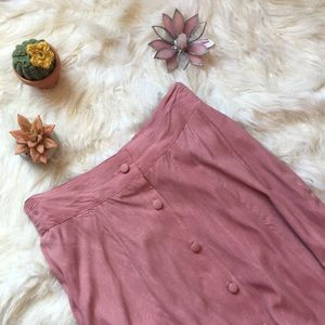 Dresses & Skirts - Vintage Pink Button-Up Maxi Skirt